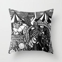 Dark Circus Throw Pillow