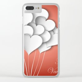 Balloons hearts from paper Valentine's Day Clear iPhone Case