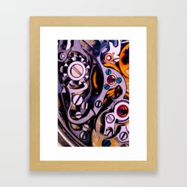 Time Machine In Color Framed Art Print