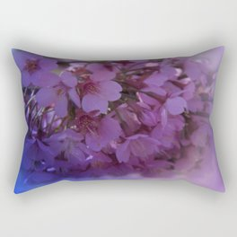 Prunus spinosa on texture - the signs of spring Rectangular Pillow