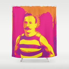 Frenchman With a Handlebar Mustache Shower Curtain