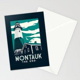 Montauk Light House Retro Vintage beach Stationery Cards