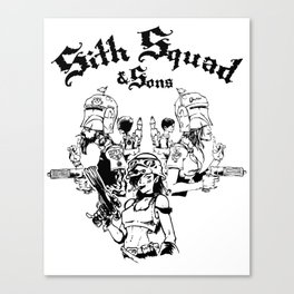 Sith Squad and Sons Canvas Print
