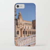 spain iPhone & iPod Cases featuring Square Spain - Seville, Spain by Richard Torres Photo