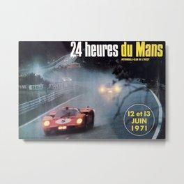 Le Mans 1972, race poster, car poster Metal Print
