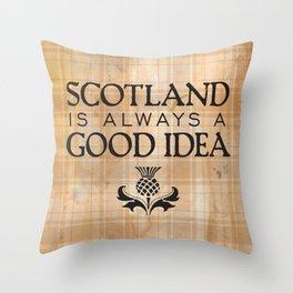 Scotland Trip Throw Pillow
