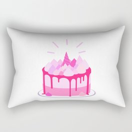 Berry cake with meringues and a horn Rectangular Pillow