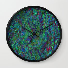 Essence Of A Peacock Wall Clock