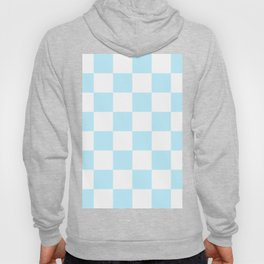 Large Checkered - White and Light Blue Hoody