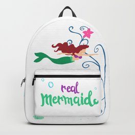 Real mermaid Backpack