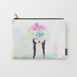Creative mind Creative soul - watercolors girl Carry-All Pouch