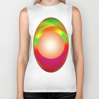 shining Biker Tanks featuring SHINING PEARL by Michelito