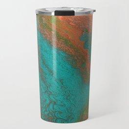 Rusty Jade: Acrylic Pour Painting Travel Mug