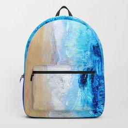Watercolour Summer beach Backpack