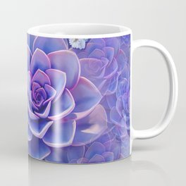 """Bouquet of pastel violet exotic succulents"" Coffee Mug"