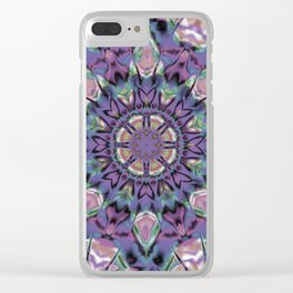 Abstract Flower AA YY QQQ Clear iPhone Case