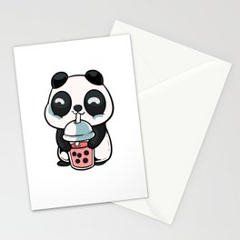 Panda bubble tea Tea Lover Gift Stationery Cards