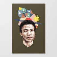 caleb troy Canvas Prints featuring Troy by mycolour