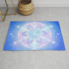 Light Frequency Mandala Rug