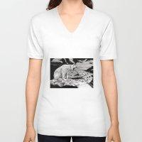polar bear V-neck T-shirts featuring Polar Bear by Meredith Mackworth-Praed
