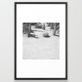 Cacti - Grayscale Framed Art Print