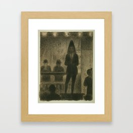 "Trombonist (Study for ""Circus Side Show"") Framed Art Print"