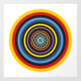 Infinite Joyful Circles Graphic Art Decoration Art Print