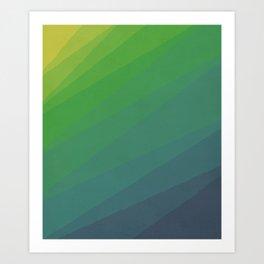 Shades of Deep Water Art Print