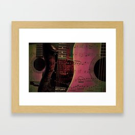 PINK GUITARS Framed Art Print