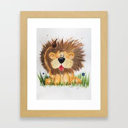Lucas the Lion Framed Art Print