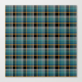 Vibrant modern Scottish lines on black Canvas Print