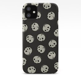 Skull Pattern (BLACK) iPhone Case