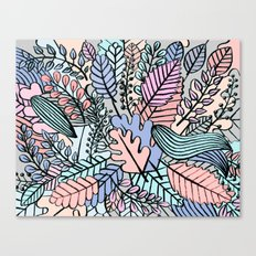 Pattern leaves Canvas Print