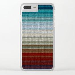 Woven Rainbow Clear iPhone Case