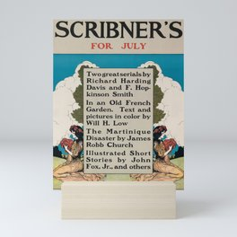 ancienne affiche scribners for july. 1902 Mini Art Print