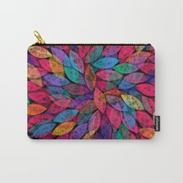 Abstract Colorful leaves III Carry-All Pouch