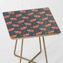 Red Panda Pattern Side Table