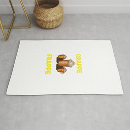 Funny Cut The Crappe Have a Frappe Coffee Pun Rug