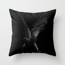 winged winter soldier Throw Pillow