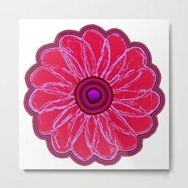 Funky Flower Metal Print