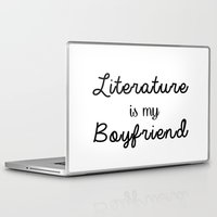literature Laptop & iPad Skins featuring literature is my boyfriend  by Beautiful Bibliophile's Boutique
