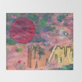 Io's Jovian Dawn Throw Blanket