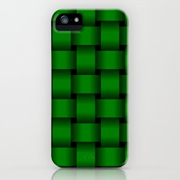 Large Green Weave iPhone Case