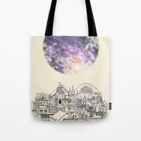 cincinnati Tote Bags featuring Cincinnati Fairy Tale by Signe