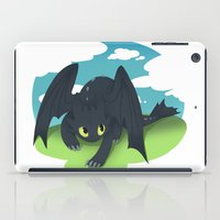 toothless iPad Cases featuring toothless by tsurime