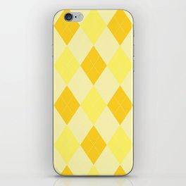 Yellow Argyle Pattern iPhone Skin