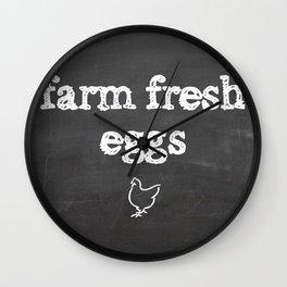 Farm Fresh Wall Clock