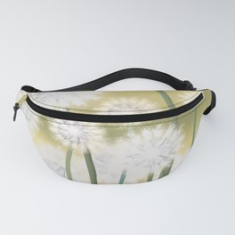 Dandelions in the morning sun Fanny Pack