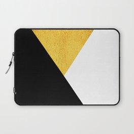 Gold & Black Geometry Laptop Sleeve