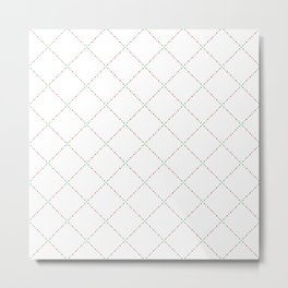 Squares dots pattern Metal Print